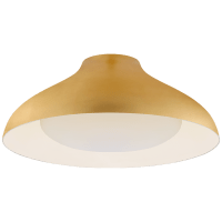 """Agnes 18"""" Flush Mount in Gild with Soft White Glass"""