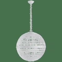 Mill Large Globe Lantern in Plaster White