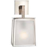 Ojai Small Sconce in Polished Nickel with Frosted Glass
