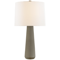 Athens Large Table Lamp in Shellish Gray with Linen Shade