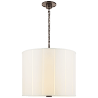 Perfect Pleat Hanging Shade in Bronze with Silk Shade