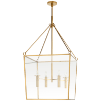Cochere Large Lantern in Soft Brass