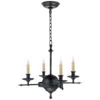 Leaf and Arrow Small Chandelier in Bronze