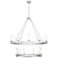 Launceton Grande Two Tiered Chandelier in Polished Nickel