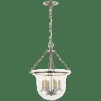 Country Medium Bell Jar Lantern in Antique Nickel