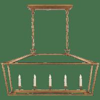 Darlana Medium Linear Lantern in Gilded Iron