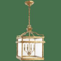 Mykonos Medium Lantern in Gilded Iron