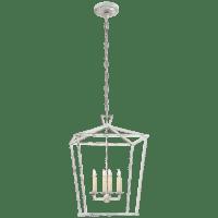 Darlana Medium Lantern in Old White