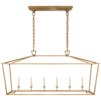 Darlana Large Linear Lantern in Antique- Burnished Brass