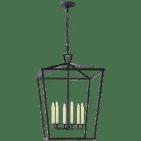 Darlana Extra Large Lantern in Aged Iron