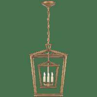 Darlana Medium Double Cage Lantern in Gilded Iron