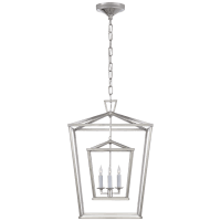 Darlana Medium Double Cage Lantern in Polished Nickel