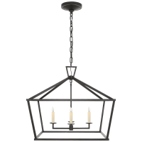 Darlana Medium Wide Lantern in Aged Iron