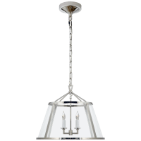"""Darlana 16"""" Pendant in Polished Nickel with Clear Glass"""