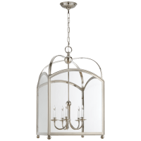 Arch Top Large Lantern in Polished Nickel