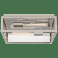 Fresno Medium Framed Flush Mount in Chrome with Clear Glass