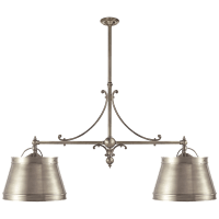 Sloane Double Shop Pendant in Antique Nickel with Antique Nickel Shades