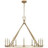 Darlana Extra Large Single Ring Chandelier in Antique-Burnished Brass