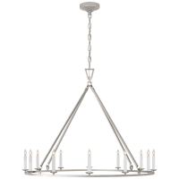 Darlana Large Single Ring Chandelier in Polished Nickel