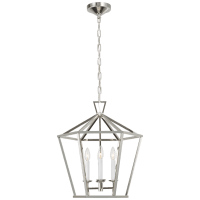 Darlana Medium Hexagonal Lantern in Polished Nickel