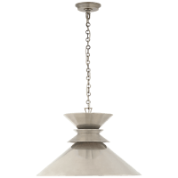 Alborg Large Stacked Pendant in Antique Nickel with Antique Nickel Shade