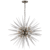 Quincy Medium Sputnik Chandelier in Polished Nickel with Clear Acrylic