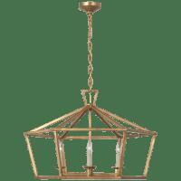 Darlana Wide Hexagonal Lantern in Gilded Iron