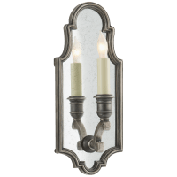 Sussex Small Framed Sconce in Sheffield Nickel with Antique Mirror