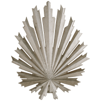 Claymore Medium Tapered Round Wall Washer in Burnished Silver Leaf