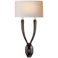 Ruhlmann Double Sconce in Bronze with Natural Paper Shade