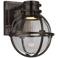 Gracie Single Sconce in Bronze with Clear Glass