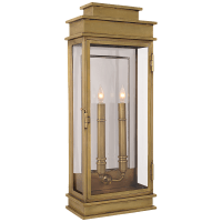 Linear Lantern Tall in Antique-Burnished Brass