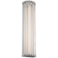 """Kean 21"""" Sconce in Polished Nickel with Clear Glass Rods"""