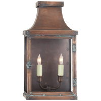 Bedford Wide Short 3/4 Lantern in Natural Copper