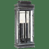 Linear Lantern Tall in Weathered Zinc