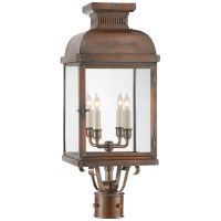 Suffork Post Lantern in Natural Copper with Clear Glass