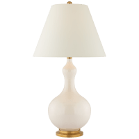 Addison Medium Table Lamp in Ivory with Natural Percale Shade