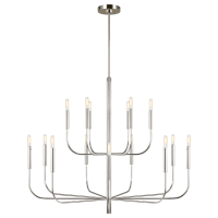 Brianna Large Two-Tier Chandelier Polished Nickel