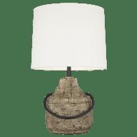 Augie Table Lamp Stone Bulbs Inc