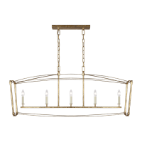 Thayer Linear Chandelier Antique Gild
