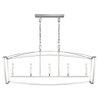 Thayer Linear Chandelier Polished Nickel
