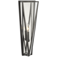 Lorino Medium Sconce in Bronze with Clear Glass