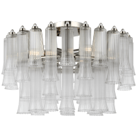 """Lorelei 18"""" Semi-Flush Mount in Polished Nickel with Clear Glass"""