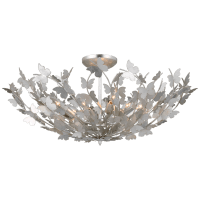 Farfalle Large Semi-Flush Mount in Burnished Silver Leaf