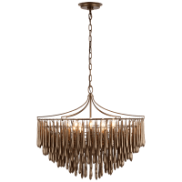Vacarro Medium Chandelier in Antique Bronze Leaf