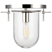 Nuance Small Flush Mount Polished Nickel