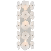 "Leighton 20"" Sconce in Polished Nickel with Cream Tinted Glass"