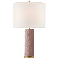 Clary Large Table Lamp in Peony with Linen Shade