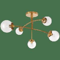 Prescott Medium Mobile Chandelier in Soft Brass with Clear Glass