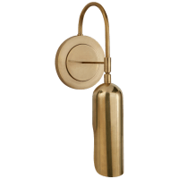 Lucien Functional Wall Light in Antique-Burnished Brass